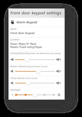 Alarm Disarm Volume Control