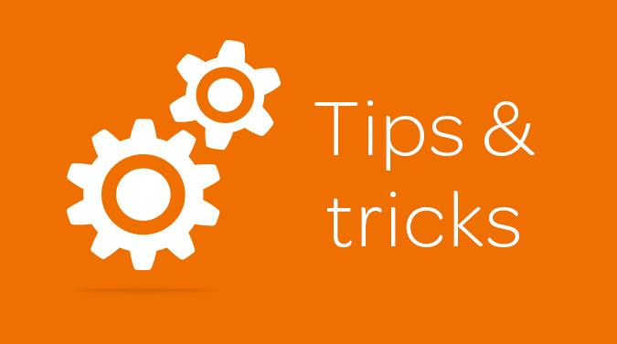 Tips & tricks on the go! image