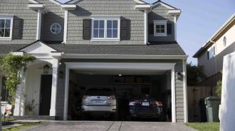 Front of home garage door