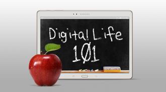 Digital Life 101 chalkboard