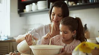 Mother & daughter baking