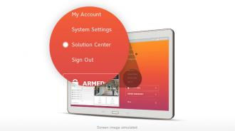 Solution Center in app menu